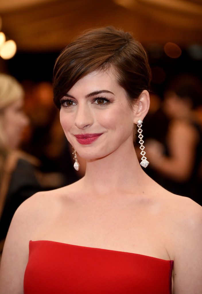 Flequillo lateral de Anne Hathaway